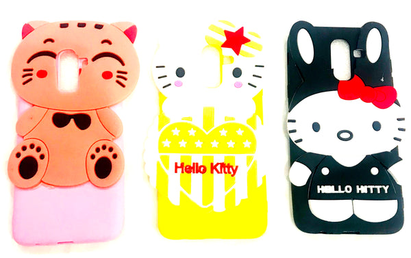 Full Kitty Case for S Galaxy A8 Plus (3D Cute Soft Silicone Hello Kitty Back Cover for S Galaxy A8 Plus) - AHFK00830005FKSSA8PC