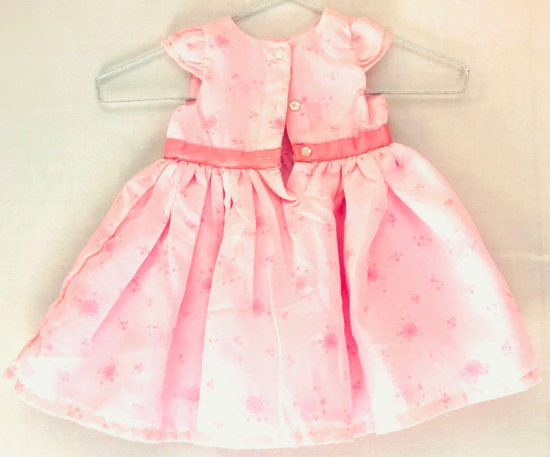 Pink color Flower Print Frock (0 to 6 months) - NT00001PFPFPINK