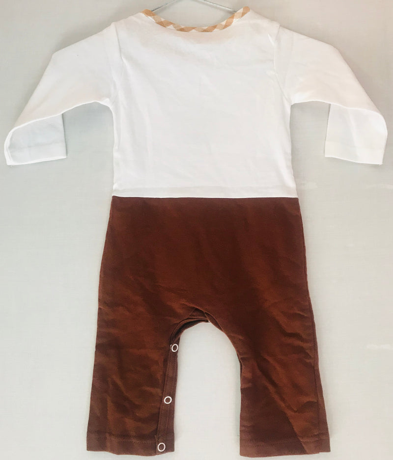 Baby Romper White & Brown Color ( 0 to 6 Months) - NT00001WBDPR