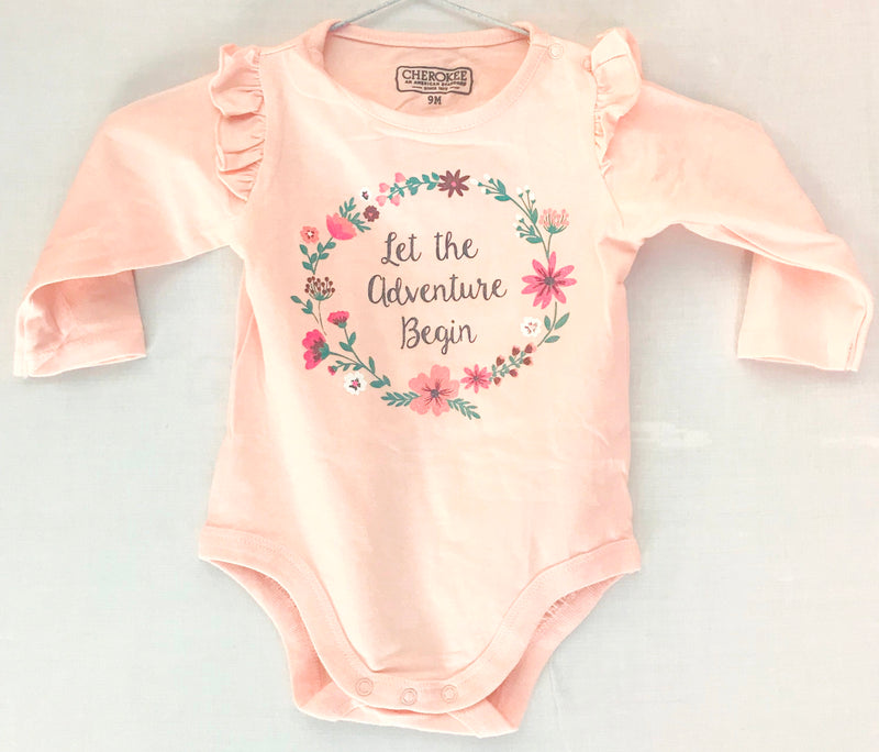 Pink Baby Romper ( 9 -24 Months ) Flower Print - NT00001PCFPR