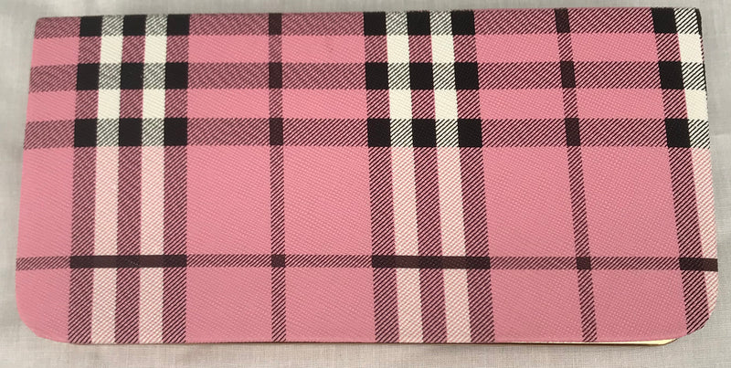 Women's/Girl's Pink Color With Checks Clutch - YB00084PWBC