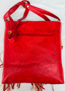 Red Color Diamond & Star Studded Handbag - YB000591RDSSH