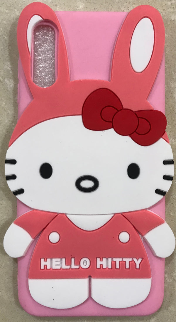 Girl's Back Cover Hello Kitty Silicon for Samsung A50 - AHFK00830005FKSSA50C