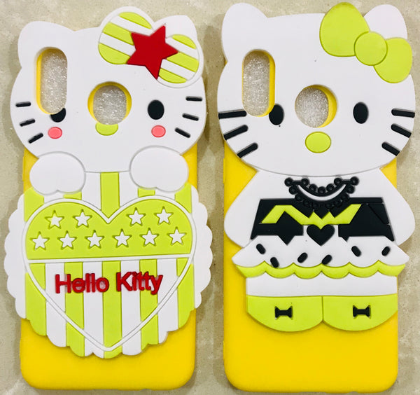 Girl's Back Cover Hello Kitty Silicon for Samsung A30 - AHFK00830005FKSSA30C