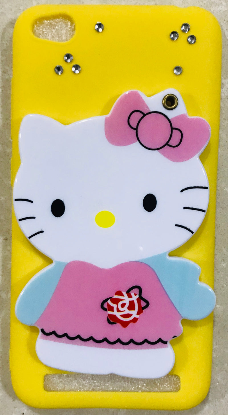 Cute Mirror Kitty Silicone Soft TPU Back Case Cover for Xiaomi Redmi 5A/MI 5A - AHMK005400010MKR5AC