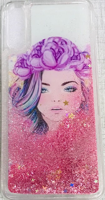 Glitter Sparkle Stars Bling Bumper Soft Silicone Transparent Back Cover for Samsung Galaxy A2CORE - Pink/Red/Golden/Blue - AHLG000500010LGSA2CC