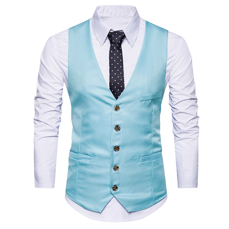 Turquoise Color Men's Party Wear waistcoat Ethnic Jacket