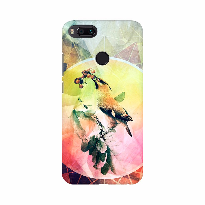 Colorful Texture with Bird Mobile case cover