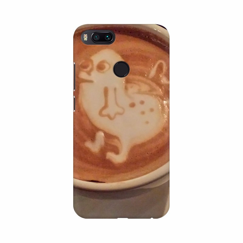 Cream Duck Coffee Cup Mobile Case Cover