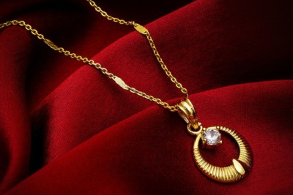 Gold Plated Beautiful Pendant - WB000009
