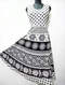 Trending Black & White Cotton Dress - WB000091