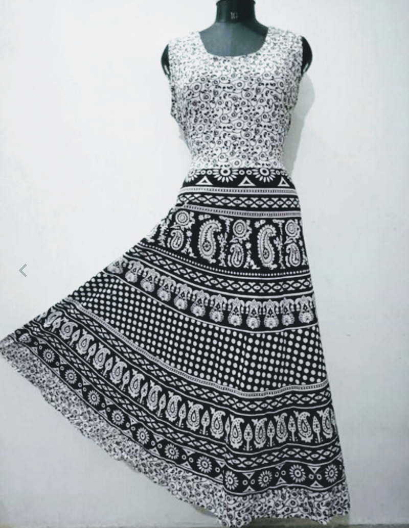 Beautiful Black and White Summer Dress - WB000002D