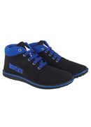 Black and Blue Shoe For Men