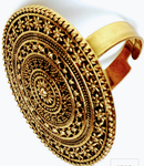 Party Wear Ring Oxidized Gold Plated Adjustable Ring