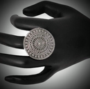 Party Wear Antique Oxidized Silver Adjustable Ring