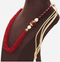 Wine Red Multi-Layer Necklace for Women