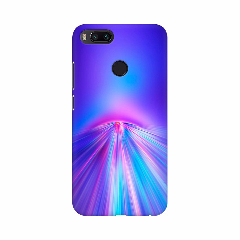 Blue Lighting Rays Mobile Case Cover