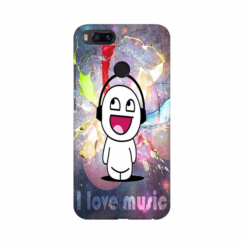 I love Music Be happy Mobile Case Cover