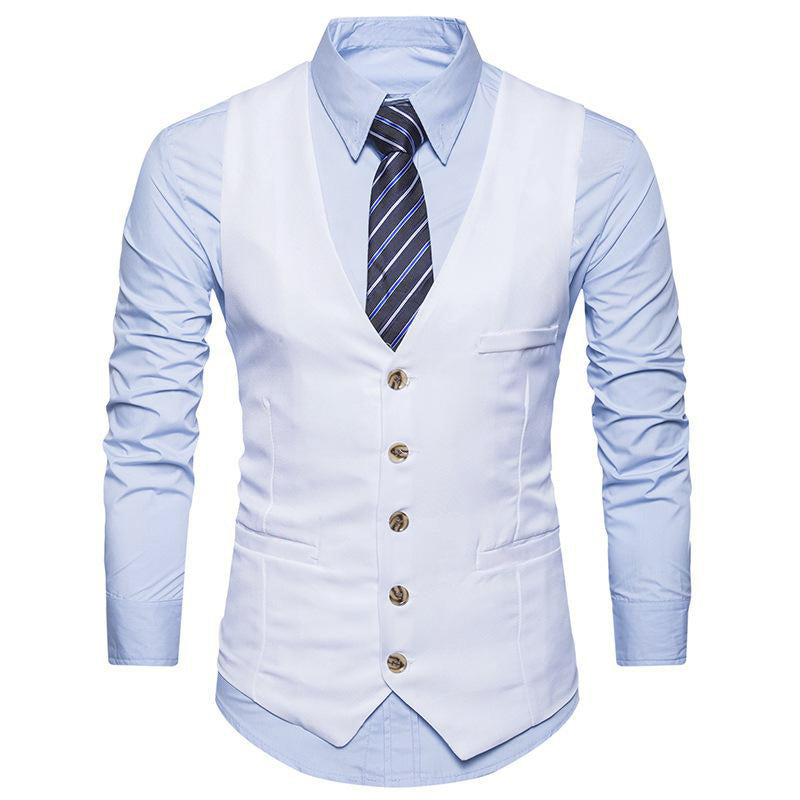White Color Men's Party Wear waistcoat Ethnic Jacket