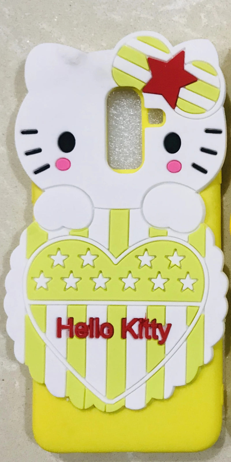 Girl's Back Cover Hello Kitty Silicon for Samsung J8 - AHFK00830005FKSSJ8C Pink | Yellow | Black