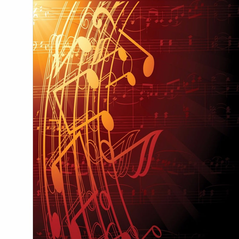 Orange color Musical Chart Mobile Case Cover