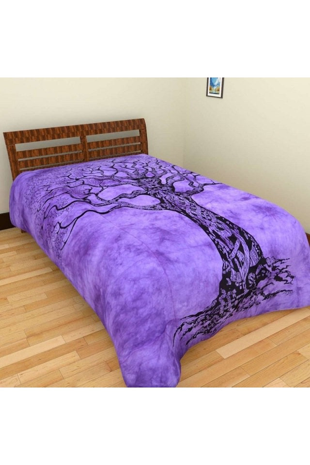 Cotton Printed Tree Design Bed sheet