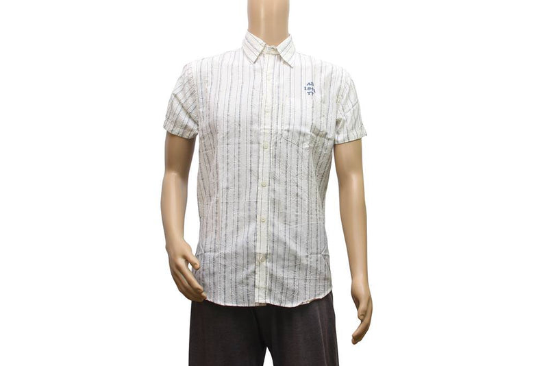 Crushed Material Shirt for a Men