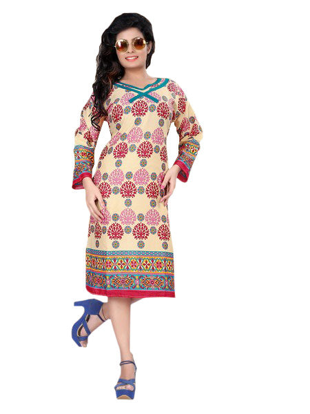 Multicolor Printed Casual Women's Kurti