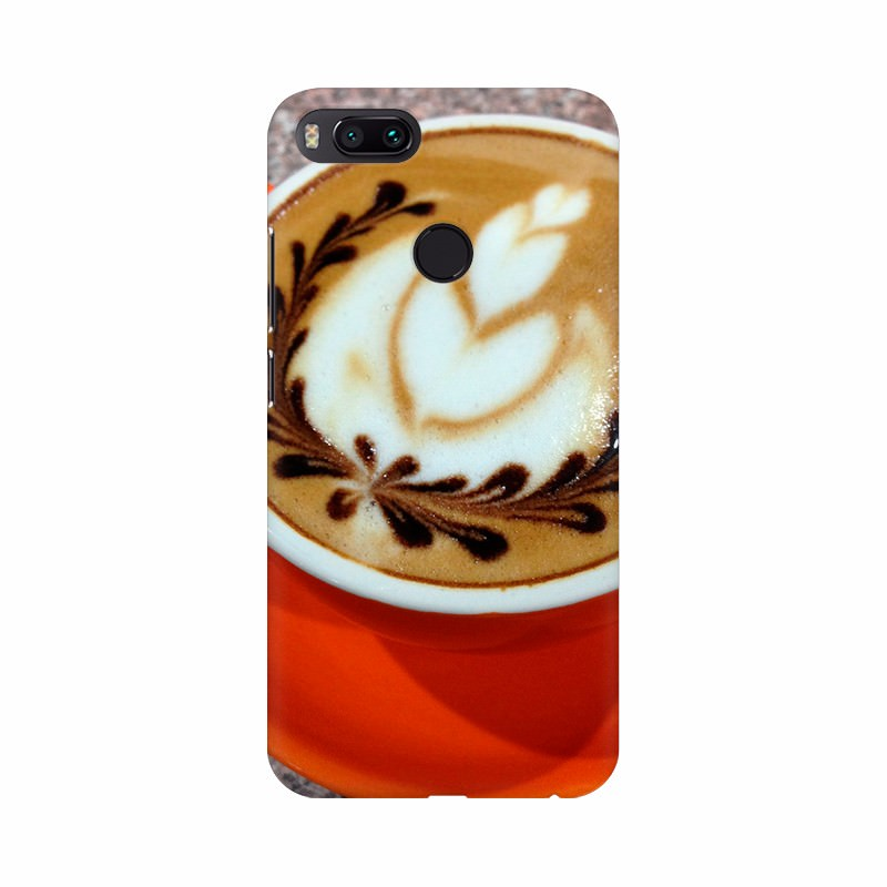 Cup of Coffee with Floral Mobile Case Cover