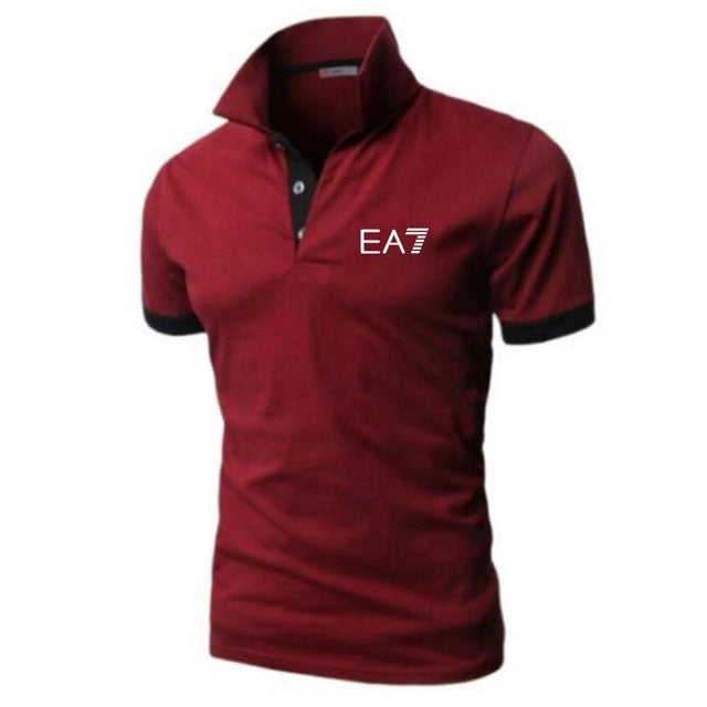 Men Polo Shirt Men Casual Solid Male Polo Shirt Short Sleeve High Quality Men Clothing CI000041