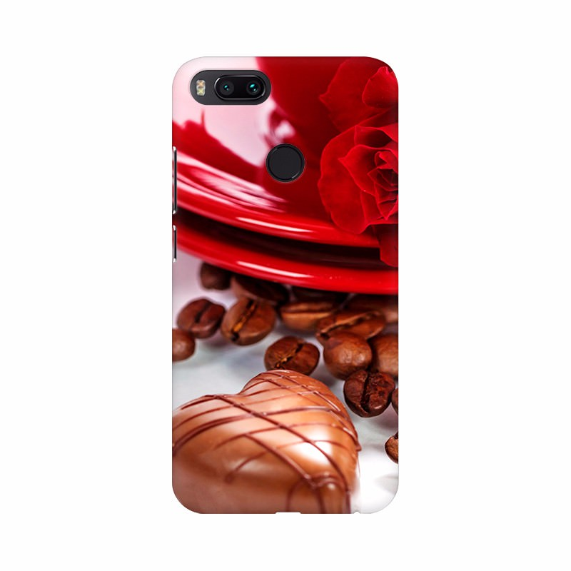 Dark Chocolate with Plate Decoration Mobile Case Cover