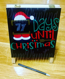 Christmas count down chalk board