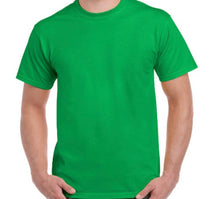 Load image into Gallery viewer, Personalised cotton tee  - multi coloured design - VINYL APPLICATION