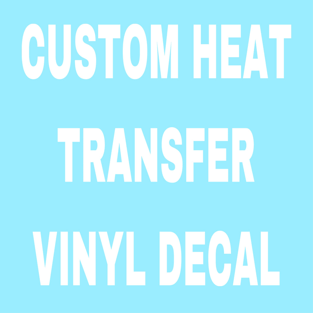 Personalised iron on heat transfer vinyl decal