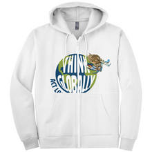 Load image into Gallery viewer, Think Globally Act Locally Hoodies (Zip-up)