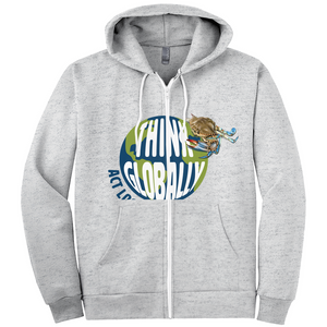Think Globally Act Locally Hoodies (Zip-up)