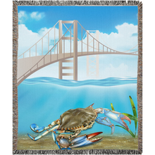Load image into Gallery viewer, Chesapeake Bay Plate Woven Blankets