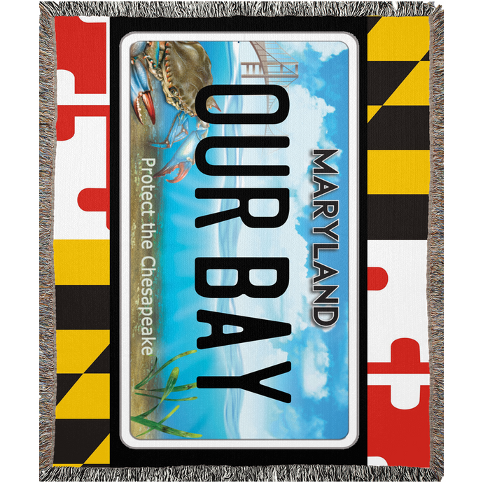 Maryland Flag Bay Plate