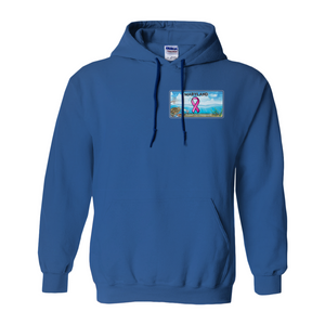Chesapeake Bay Plate Breast Cancer Strength two sided logo Hoodies (No-Zip/Pullover)