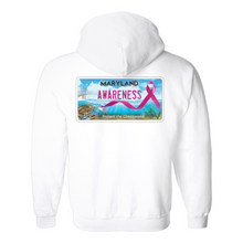 Load image into Gallery viewer, Chesapeake Bay Plate Breast Cancer Awareness back logo Hoodies (No-Zip/Pullover)