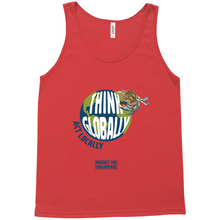 Load image into Gallery viewer, Think Globally Act Locally Men's Tank Tops