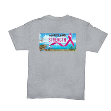 Load image into Gallery viewer, Chesapeake Bay Plate Breast Cancer Strength back logo T-Shirts