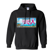 Load image into Gallery viewer, Chesapeake Bay Plate Breast Cancer Support Hoodies (No-Zip/Pullover)