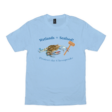 Load image into Gallery viewer, Wetlands=Seafood  Bright Color T-Shirts