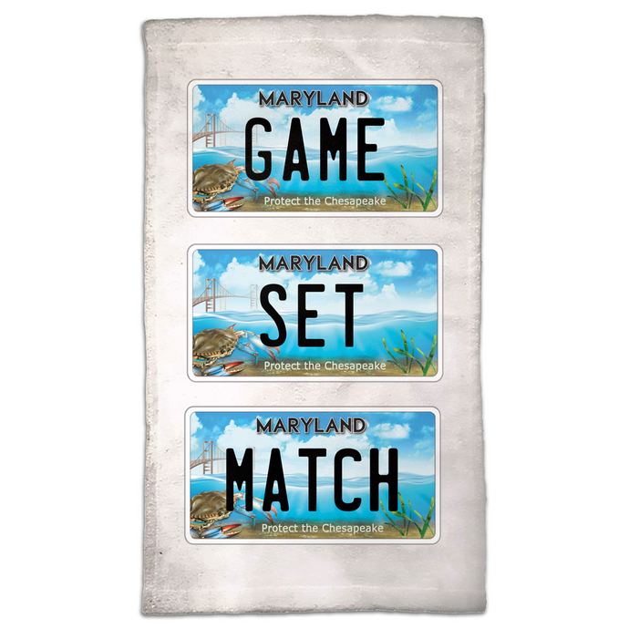 Game Set Match Hand Towel