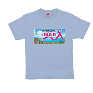 Chesapeake Bay Plate Breast Cancer  Strength T-Shirts