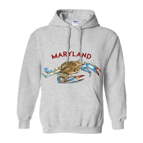 Maryland Chesapeake Bay Hoodie Light Colors