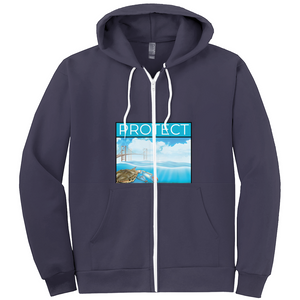 Protect the Chesapeake/ Our Bay front and back Hoodies (Zip-up)