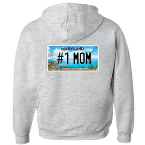 Mother's Day Bay for the Bay  #1 Mom Hoodies (Zip-up)