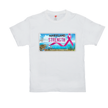 Load image into Gallery viewer, Chesapeake Bay Plate Breast Cancer  Strength T-Shirts